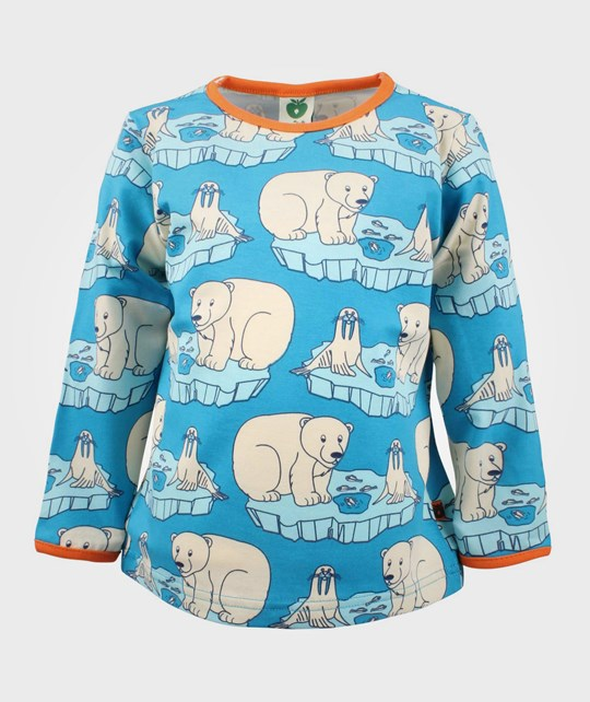 Småfolk T-shirt LS Polar Animals Blue