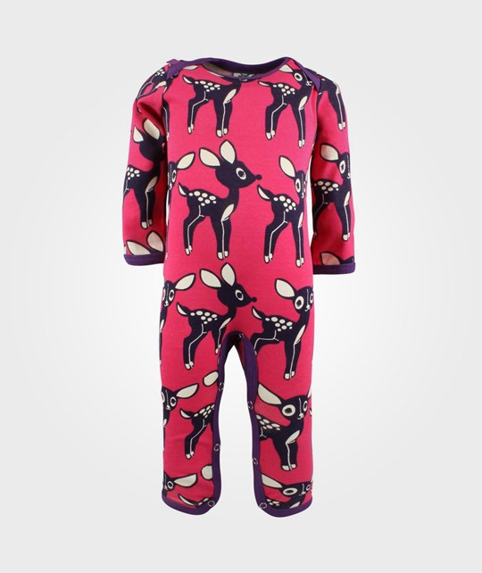 Småfolk Body Suit Deers  Pink