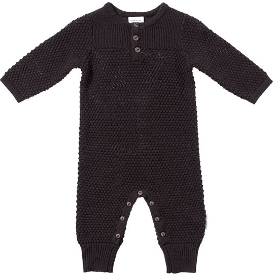 Mini A Ture Ebbe Boy Romper Licorice BROWN