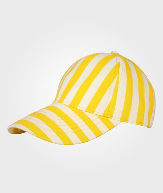 Mini Rodini Striped Cap Yellow  Yellow