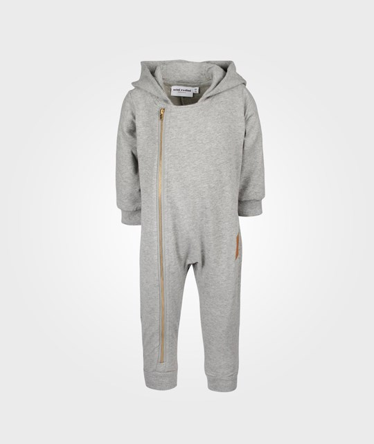 Mini Rodini Biker Onesie Grey Melange Black
