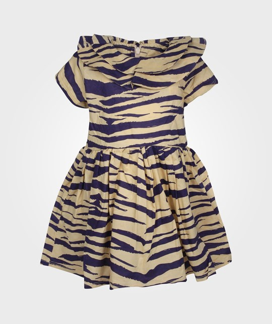 Mini Rodini Zebra Dress Purple Purple