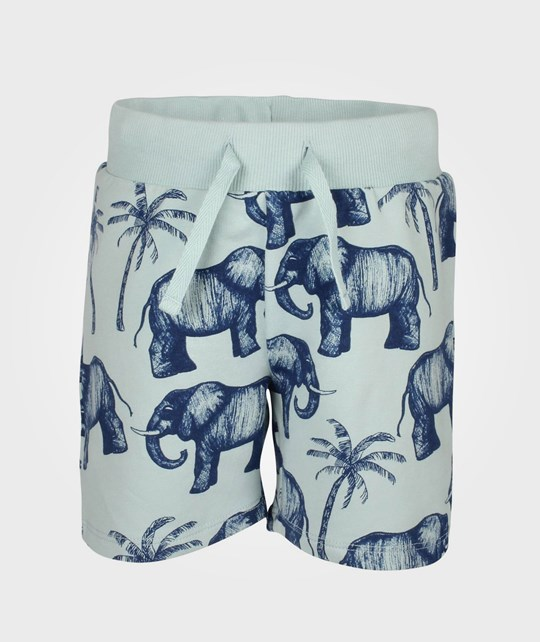 Mini Rodini Elephant Sweatshort Lt Blue Blue