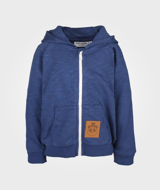 Mini Rodini French Terry Zip Hood Dk Blue Blue