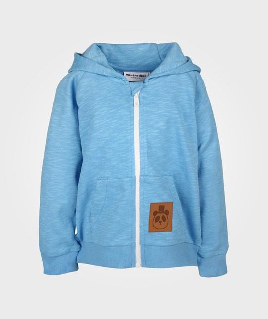 Mini Rodini French Terry Zip Hood Lt Blue Blue