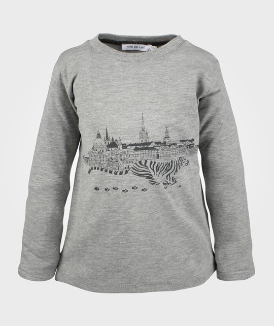 One We Like One Tee L/S Grey City Black