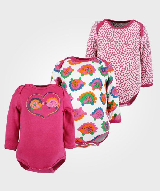 Me Too 3-pack Baby LS Body Girl Pink