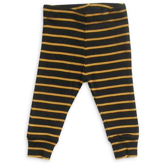 Mini Rodini Leggings Stripe Black Black