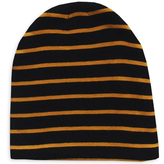 Mini Rodini Stripe Beanie Black Black