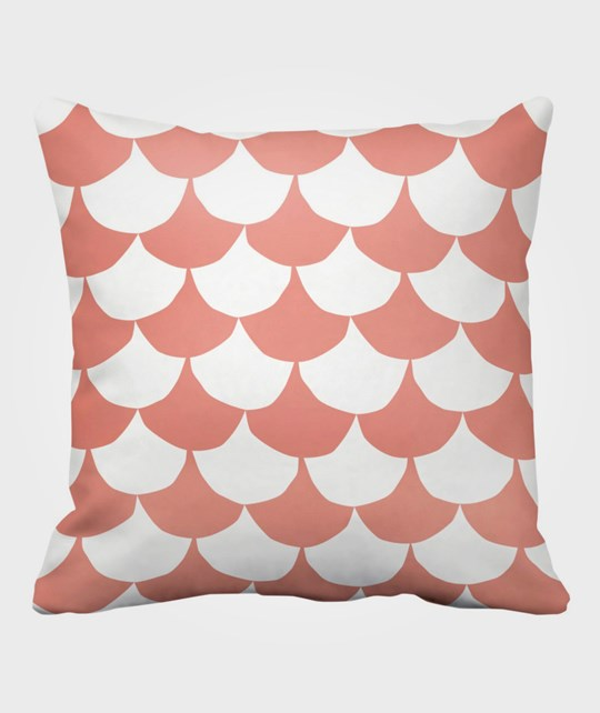 Littlephant Pillow Big Waves White/Coral Multi