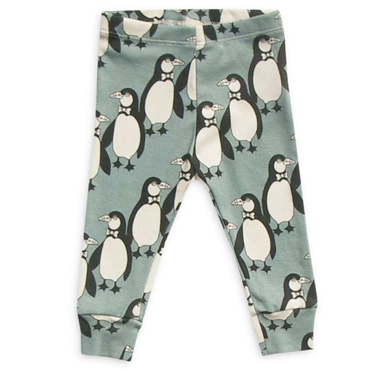 Mini Rodini Leggings Penguin Green Green