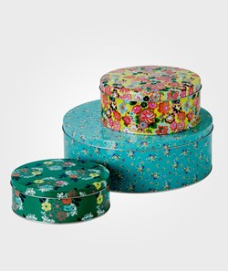Rice Metal Cake Tins 3 sizes Turquoise