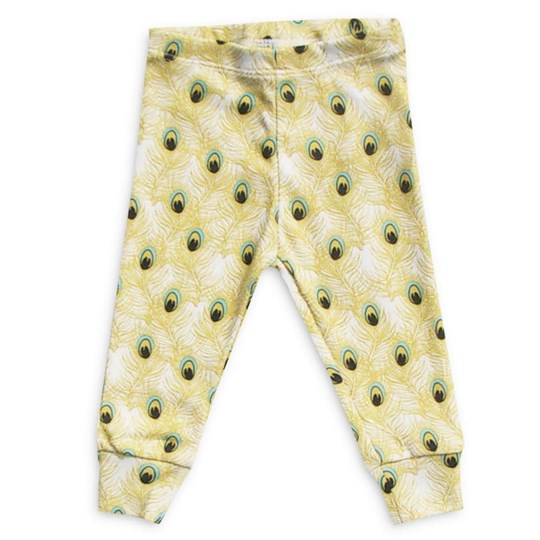 Mini Rodini Leggings Feather Yellow Yellow