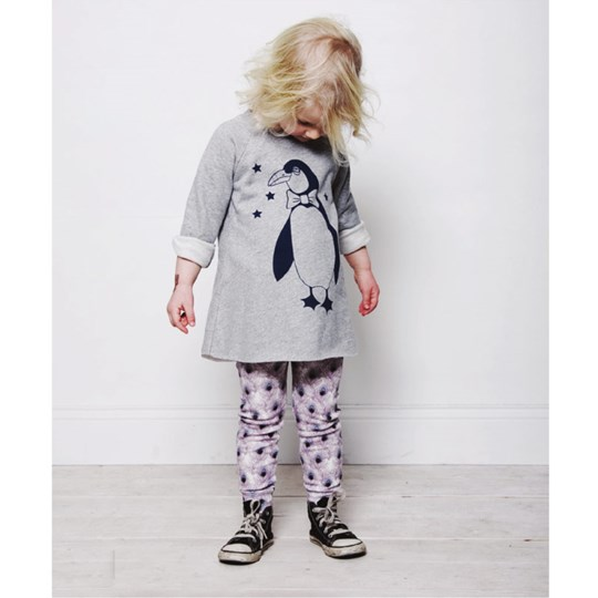 Mini Rodini Sweatshirt Dress Penguin Black