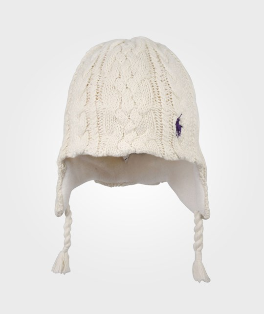 Ralph Lauren Aran Cable Toddlers Hat Essex White