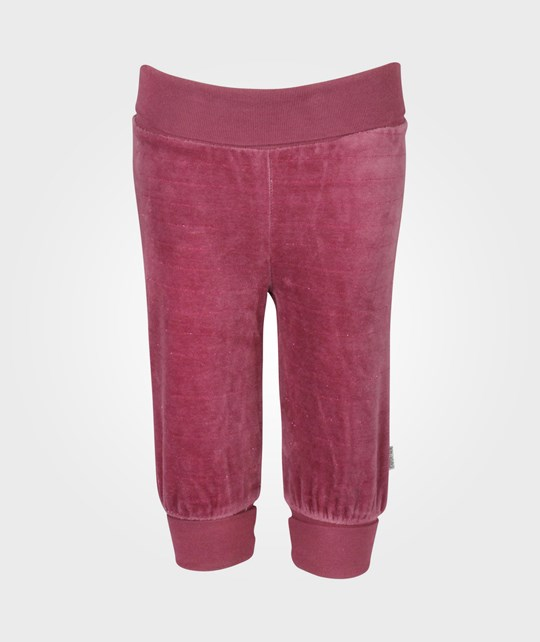 Name it Pamela Velour Pant Bordeaux Red