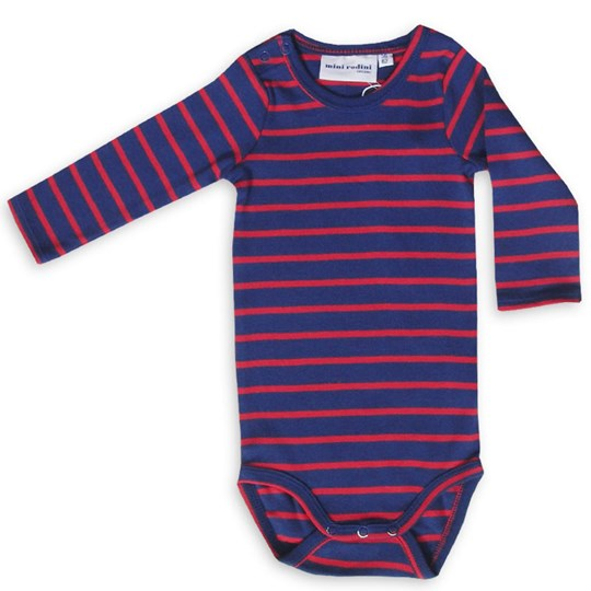 Mini Rodini Stripe L/S Body Blue Blue