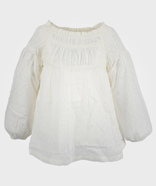 Noa Noa Miniature Mini Dobby Shirt Chalk White