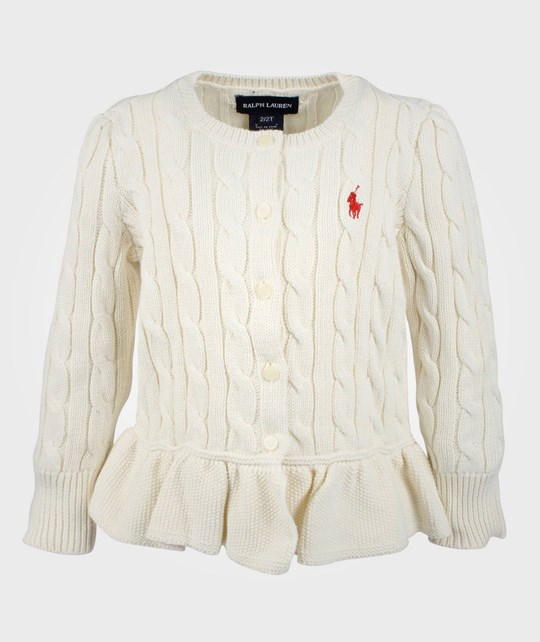 Ralph Lauren LS Classic Cable Card Herbal  White