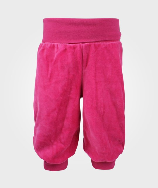 Me Too Gunde Baby Velour Pant Berry Pink