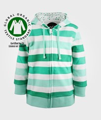 Petit Monster Hood Zip Grön Rand Green