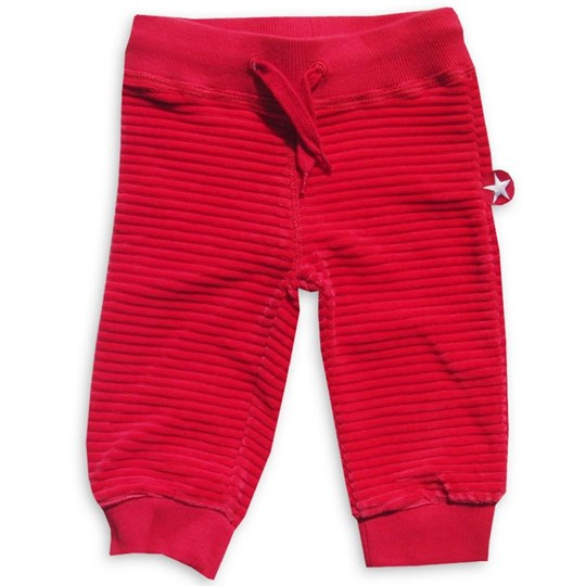 Kik Kid Trousers Velvet Red - Small Red