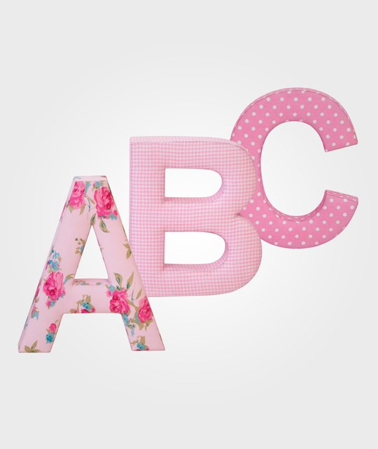 Kids Concept ABC Letters Pink 3-Pack Pink