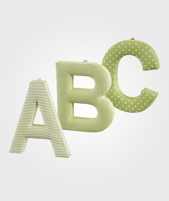 Kids Concept ABC Letters Green 3-Pack Green