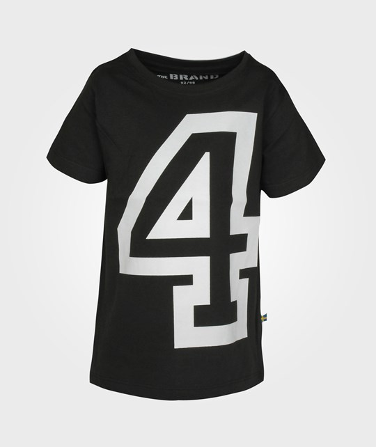 The BRAND NO-4 Tee Black Black