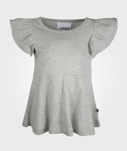 The BRAND Mini Flounce Top Grey Melange Black