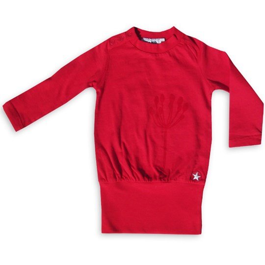 Kik Kid Dress Flock Red Small Red