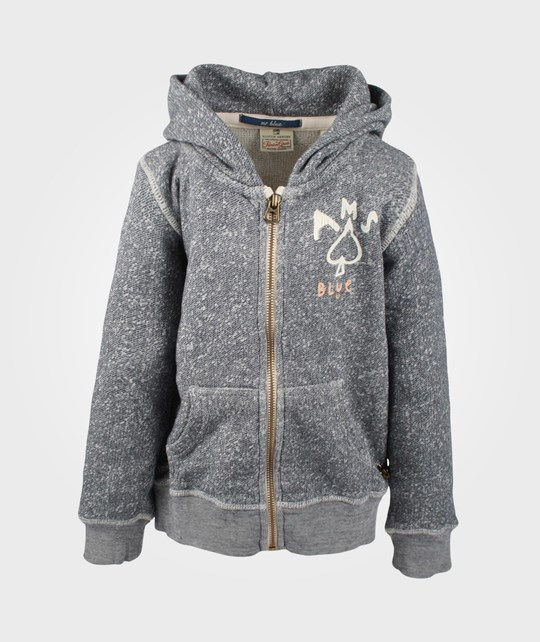 Scotch & Soda Hooded Sweatshirt Grey Melange Black