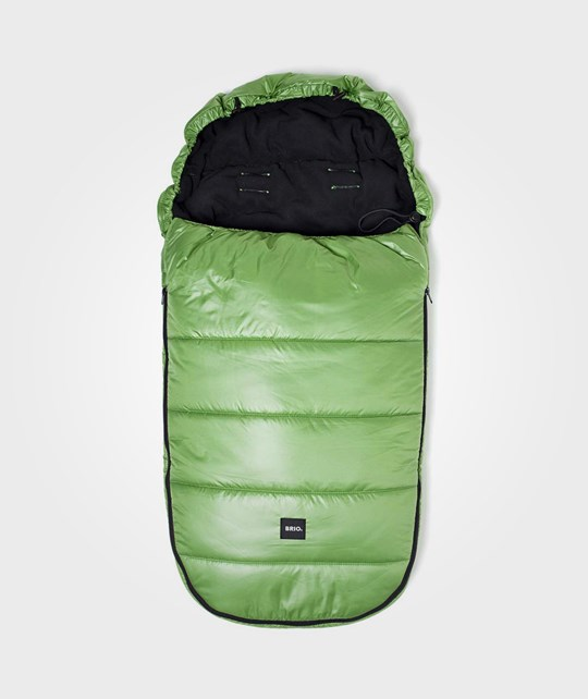 BRIO Footmuff Shiny Lime/Black Green