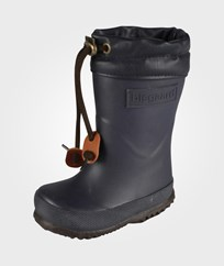 Bisgaard Rubber Boots With Wool Navy Blue