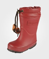 Bisgaard Rubber Boots With Wool Rubino Rød