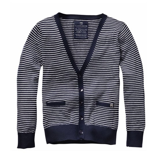 Scotch & Soda Cardigan Stripe Marine Blue