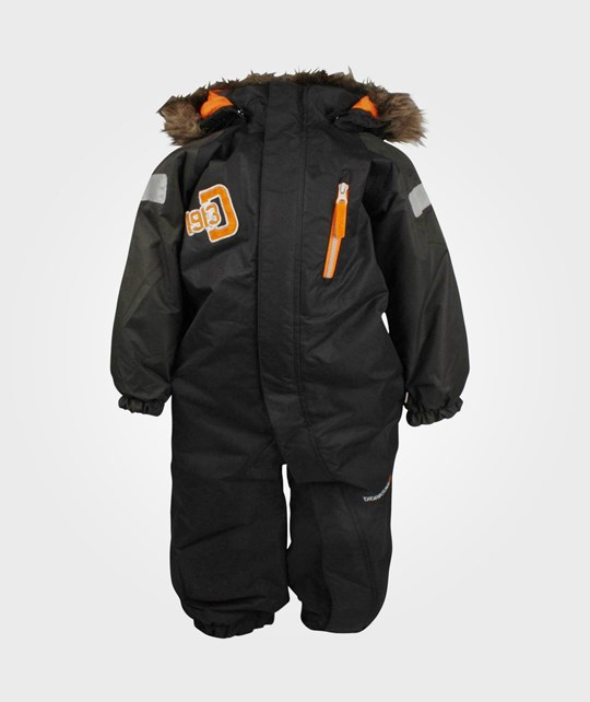 Didriksons Tucky Kids Coverall Coal Black