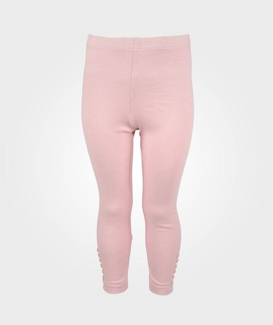 Wheat Rib Leggings Dusty Rose Pink
