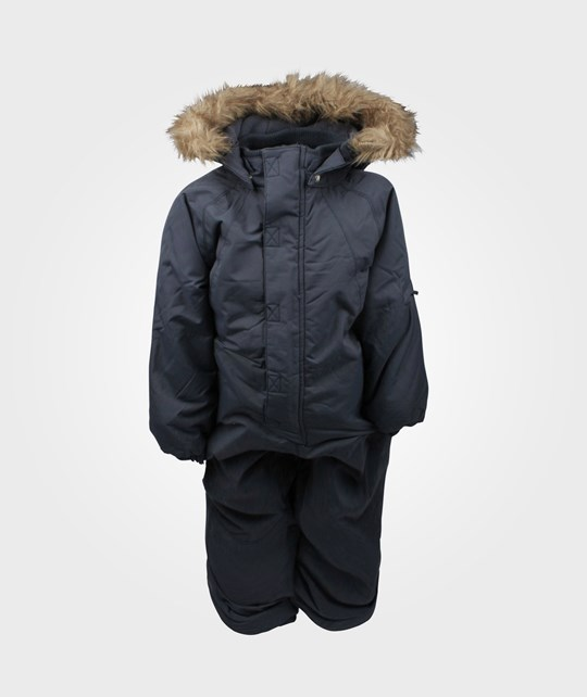 Wheat Snowsuit Fur Dk Blue Blue