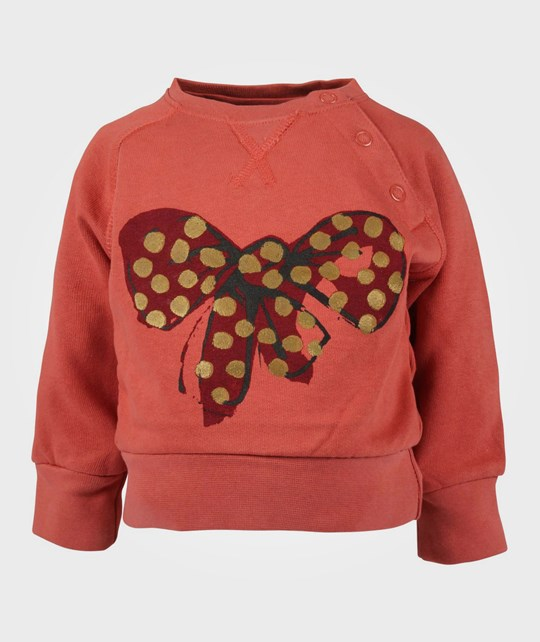 Soft Gallery Alexi Baby Sweater Bow Mahog BROWN