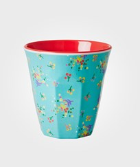 RICE A/S Melamine Cup Aqua Mini Flower Blue