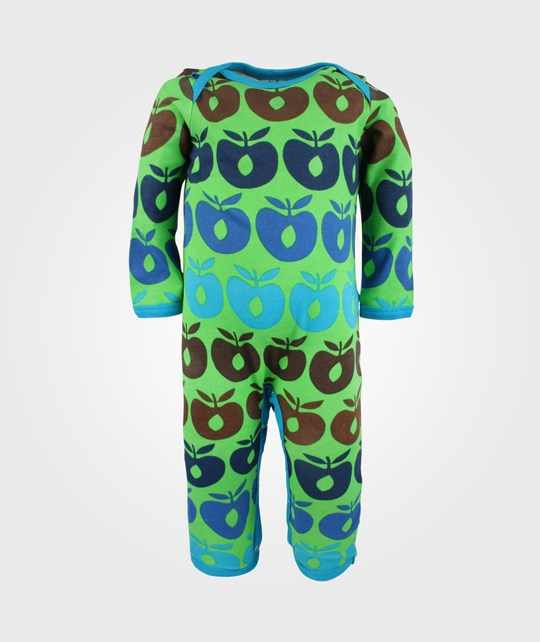 Småfolk Body Suit Multi Apples Green Green