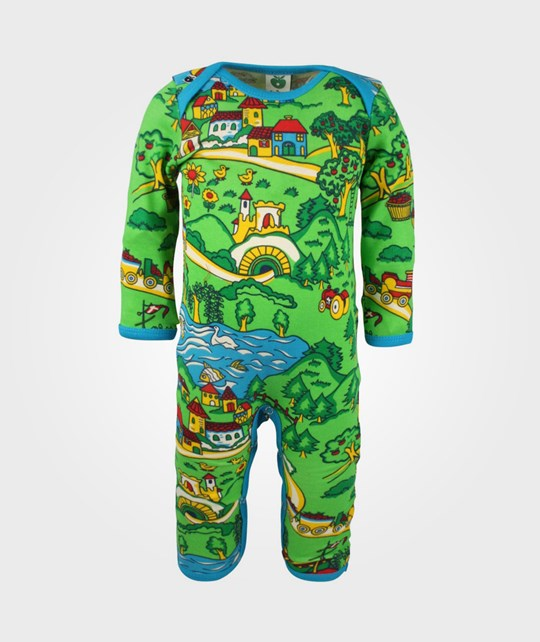 Småfolk Body Suit Landscape Green