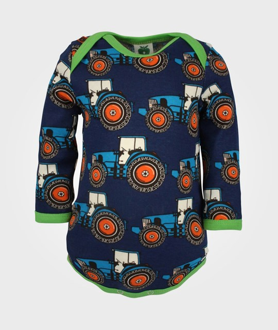 Småfolk Body L/S Farmer Tractor Navy Blue
