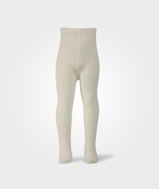 Melton Classic Wool Tights OffWhite White