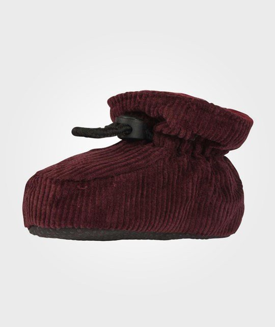 Melton Booties Corduroy Bordeaux BROWN