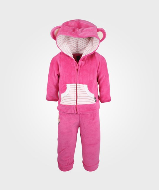 Paul Frank Hoodie+Slacks Small Paul Fuxia Pink