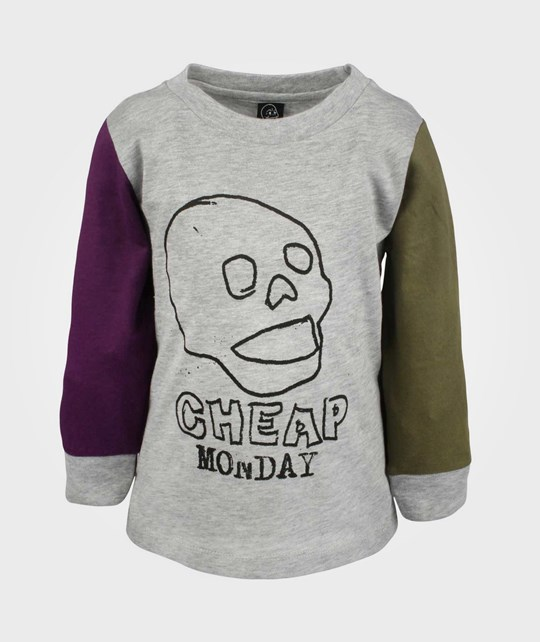 Cheap Monday Baby LS Tee Grungy Grey Sort