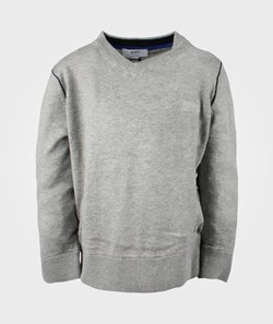 BOSS Pullover Gris Chine