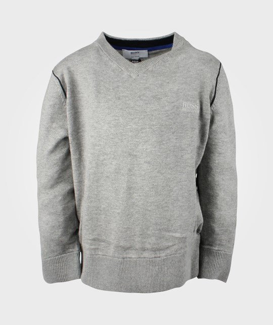 BOSS Pullover Gris Chine Black